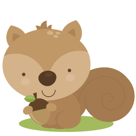 Woodland Squirrel Clipart - Woodland Animal Clipart