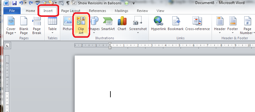 Word 2010 insert clip art