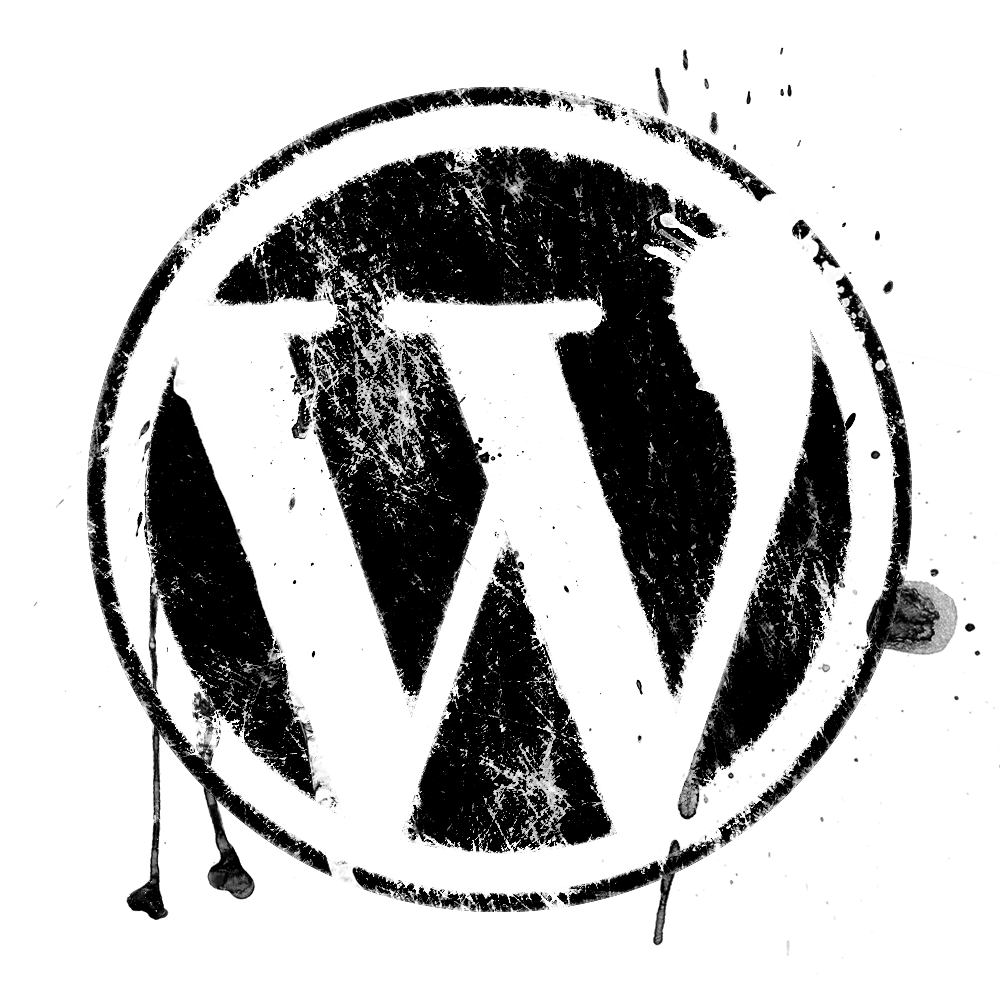 Spatter Effect WordPress Logo-Spatter effect WordPress logo-14
