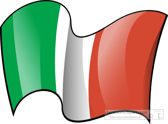 World Flags Italy Flag Flag Waving 3a Classroom Clipart