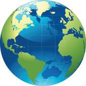 world globe ...