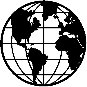 World Map Black and White Clip .