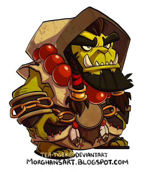 Did This A While Ago And Never Posted It-did this a while ago and never posted it. Chibi Thrall from World of  Warcraft-2