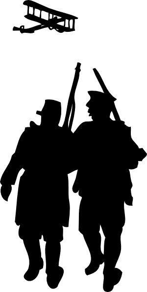 World War I Silhouette Clip Art At Clker Com Vector Clip Art Online
