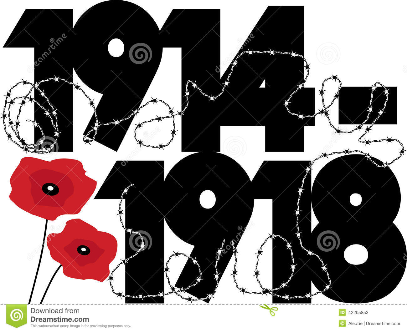 World War One Stock Vector Image 42205853