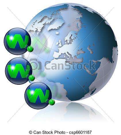World wide web globe - csp6601187