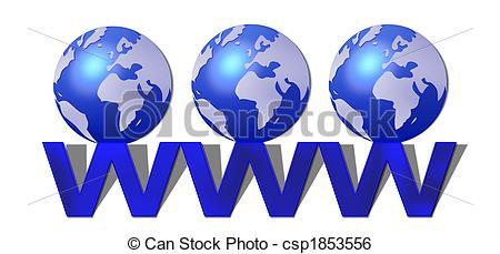 world wide web www - csp1853556