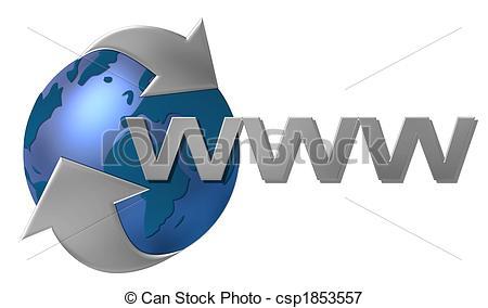 world wide web www - csp1853557