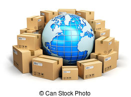 ... Worldwide Shipping Concept - Creativ-... Worldwide shipping concept - Creative abstract global.-18