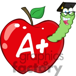 Worm and Apple. 4946-Clipart-Illustration-of- .