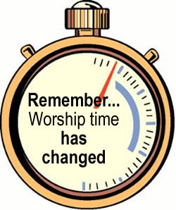 Worship Time Change - Time Change Clipart