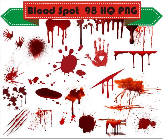 Blood Spots Open Wound Clipart PNG Set D-Blood Spots Open Wound Clipart PNG Set Digital Files Transparent Scrapbook  Supplies Clip Art Instant Download-4