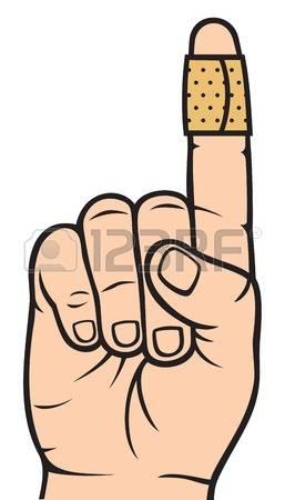 Finger With Adhesive Bandage Illustratio-finger with adhesive bandage Illustration-13