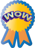 WOW Motivational Award Sticker