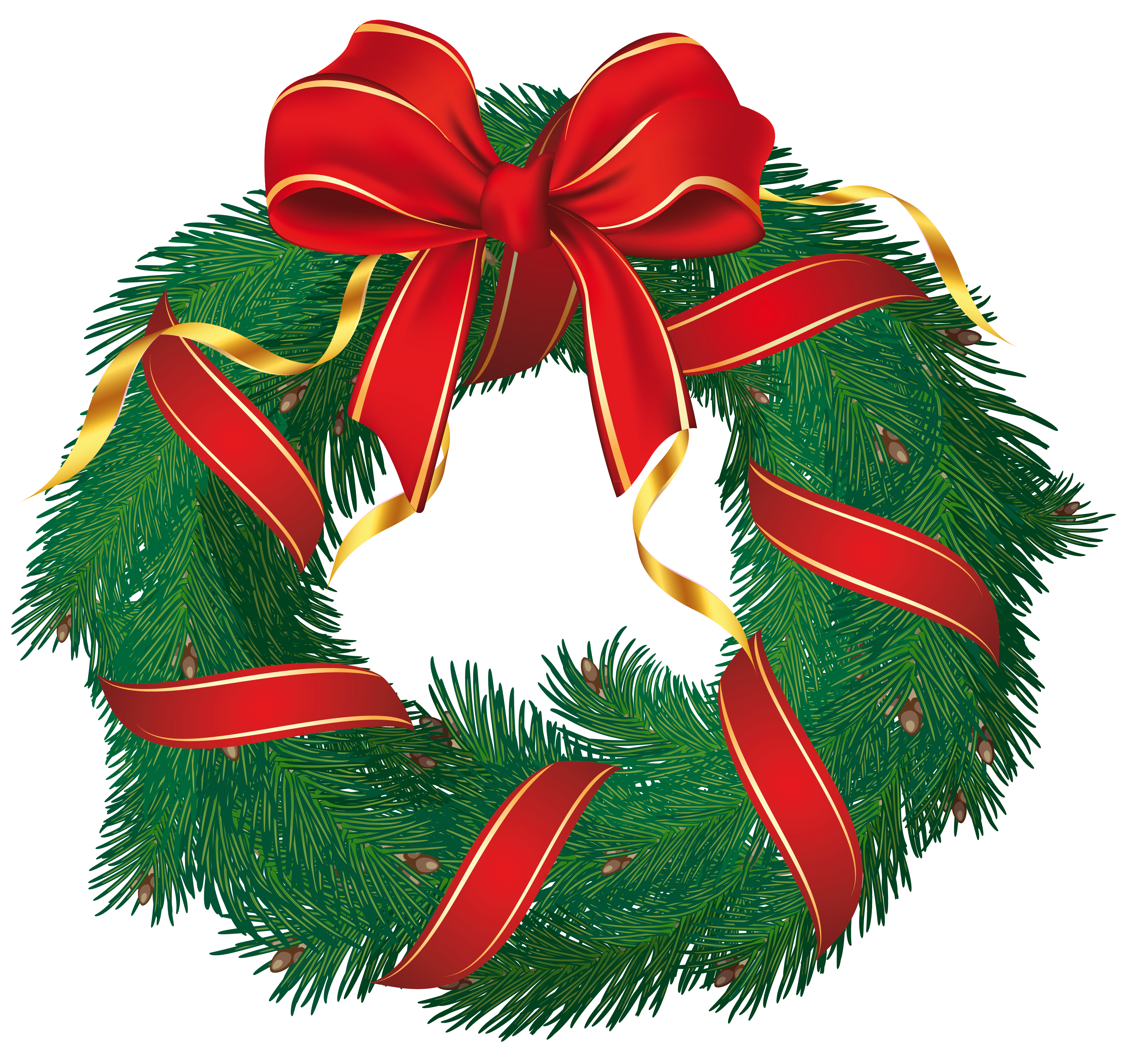 Wreath Clip Art Christmas .-wreath clip art christmas .-4
