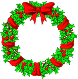 wreath with candy canes