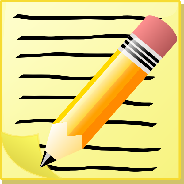 Writing clip art images free clipart
