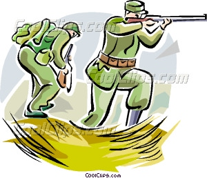 Ww1 Soldiers With Weapons Vector Clip Art