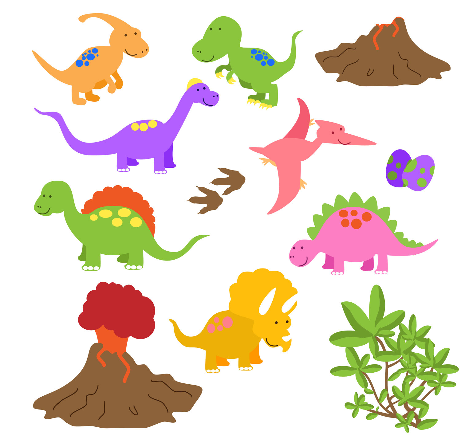 Www Etsy Com Listing 79359615 Dinosaur Clip Art Clipart Commercial And