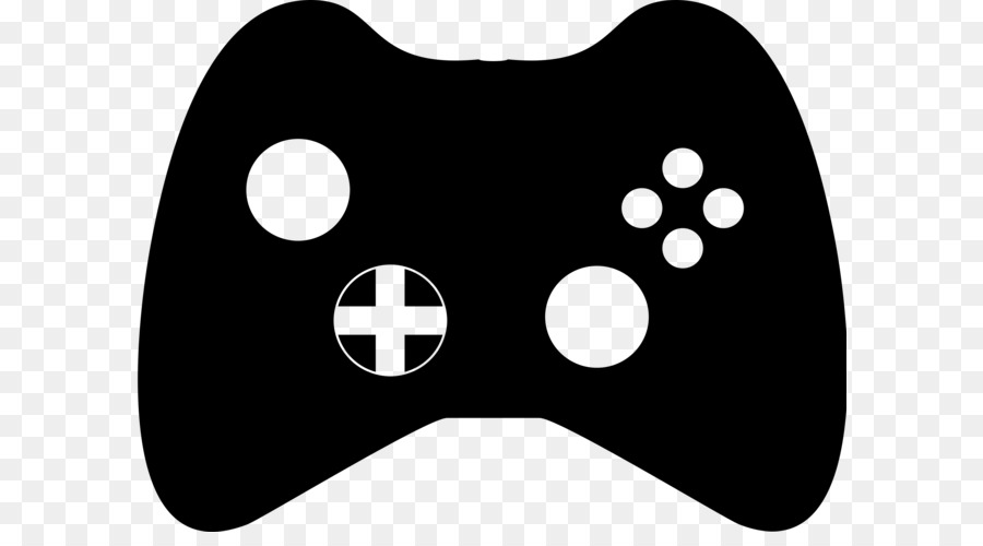 Black u0026 White Xbox 360 controller Game controller Clip art - Control  Cliparts