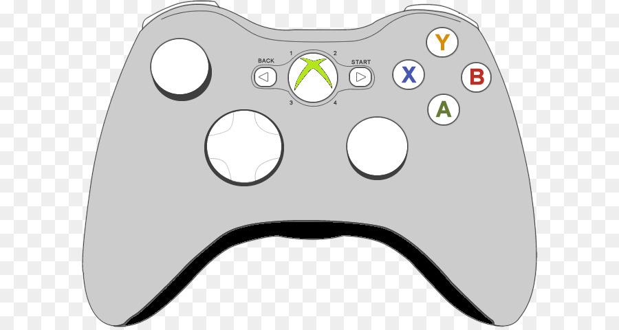 Xbox 360 controller Xbox One controller Game controller Clip art - Xbox  Controller PNG HD