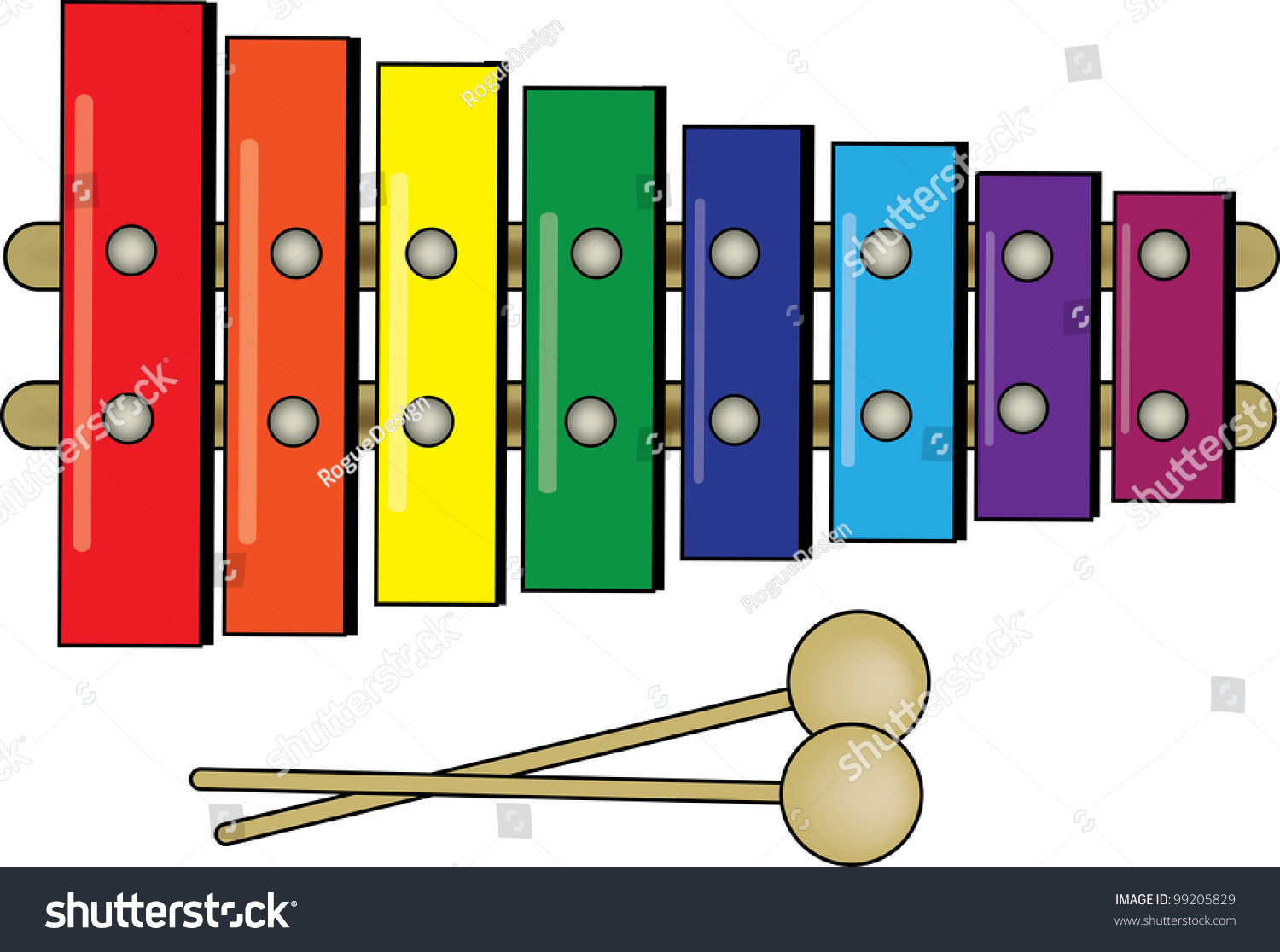 Clipart Of Xylophone Clip Art Illustration Colorful Childs Stock