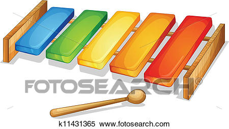 Clipart - xylophone. Fotosearch - Search Clip Art, Illustration Murals,  Drawings and Vector