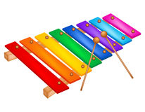 Xylophone. Illustration of a colorful xylophone isolated on white  background Royalty Free Stock Image