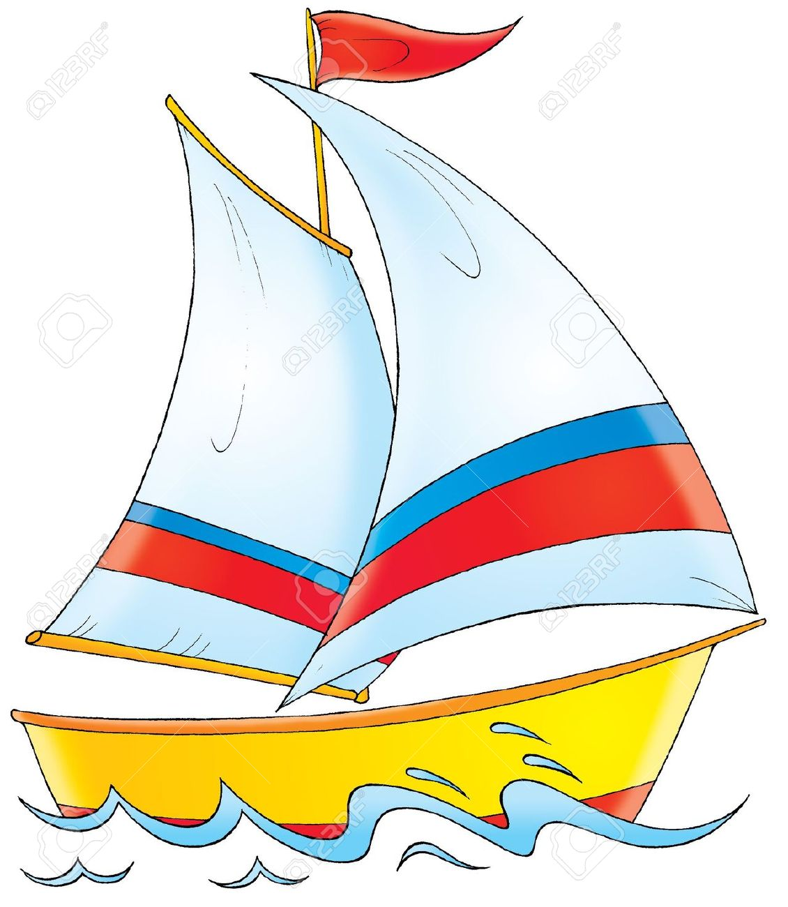 Yacht boat cartoon clipart .-Yacht boat cartoon clipart .-1