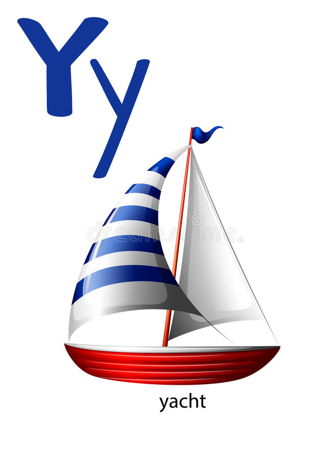 Download Letter Y for yacht stock vector. Illustration of clipart - 51272349