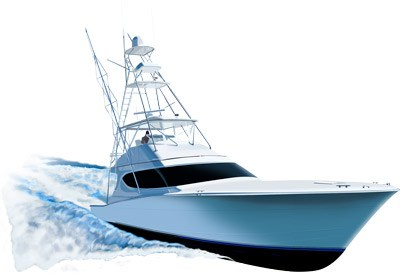 Hatteras 54ft Yacht - Yacht Clipart