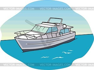 Luxury Yacht Clipart #1