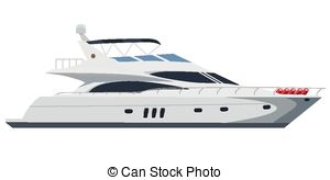 . ClipartLook.com Motorboat - Cruising motor yacht on white background
