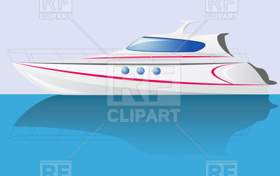 White speed yacht - cabin cruiser side view, 19941, download royalty-free  vector ClipartLook.com