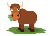 Yak asian herd animal clipart - Yak Clipart