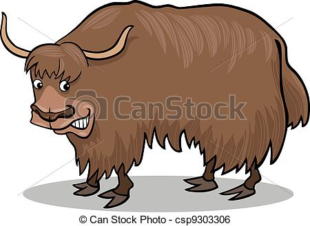 ... Yak bull - cartoon illust - Yak Clipart