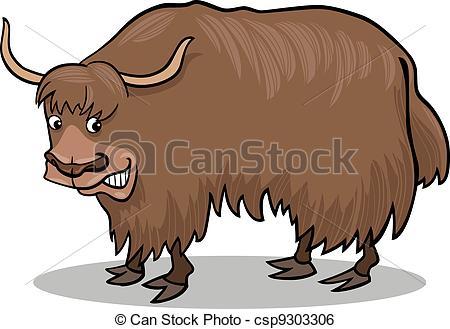 ... Yak bull - cartoon illustration of asian yak bull