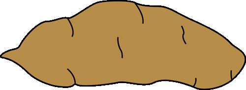 Yam Clip Art Image - large brown yam.