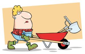 Yard Work Cartoon Clipart Image Clip Art Image Of A Woman Wearing