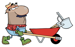 Yard Work Clipart Image Man