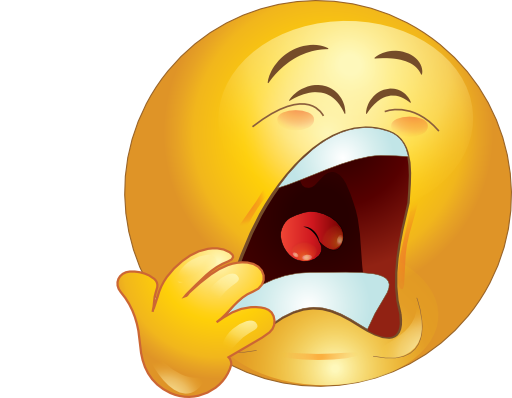 Yawning Smiley Face Clipart Yawn Smiley Emoticon