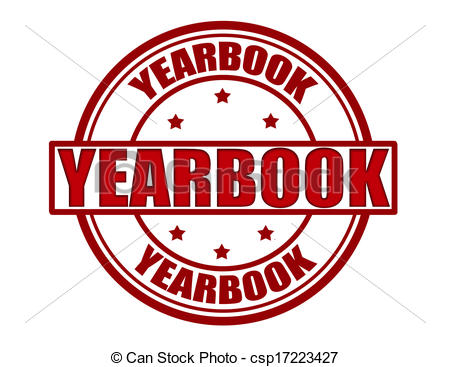 ... Yearbook - Stamp with wor - Yearbook Clip Art
