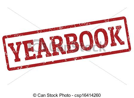 Yearbook stamp - Yearbook grunge rubber stamp on white,.