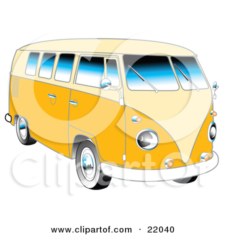Yellow 1962 Vw Bus With Chrome Detail And A Pale Yellow Roof And Accents by Andy Nortnik