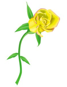 Yellow Rose Border Clip% .-yellow rose border clip% .-4