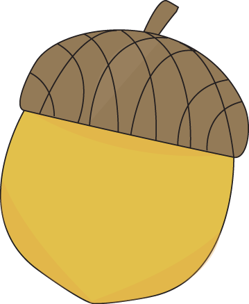 Yellow Acorn Clip Art Image Yellow Autumn Acorn With A Brown Cap