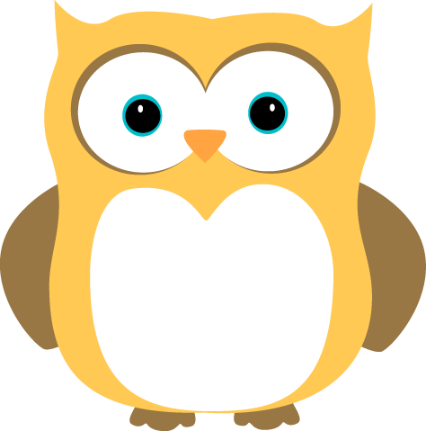 Yellow and Brown Owl - Owl Pictures Clip Art