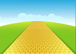 Yellow brick road clipart - .