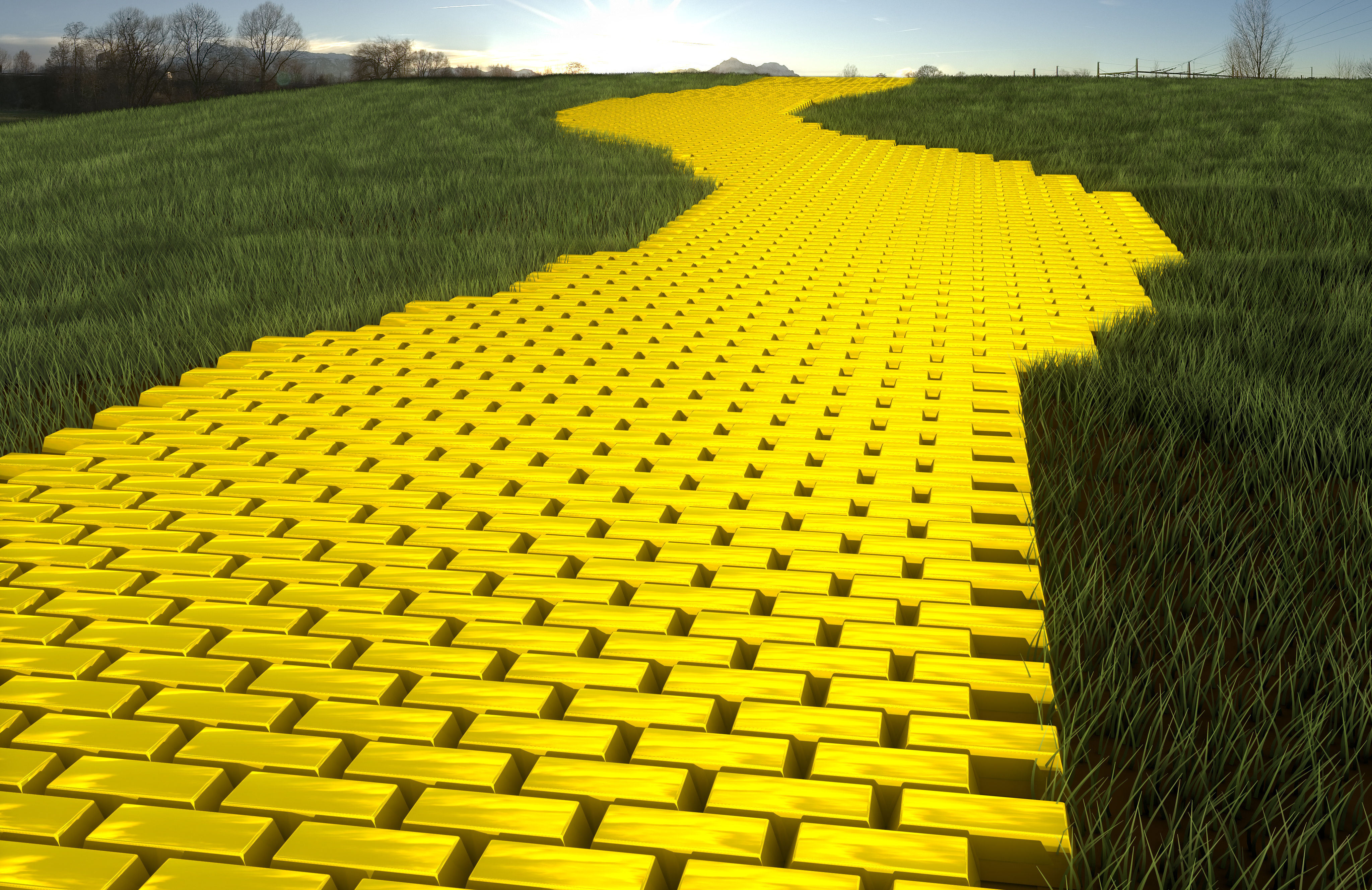 Yellow brick road clipart
