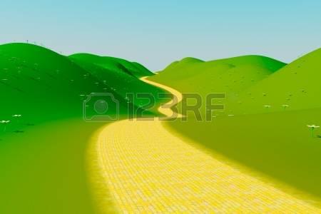 yellow brick road: Yellow brick road Stock Photo